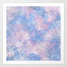 Frozen Leaves 10 Art Print