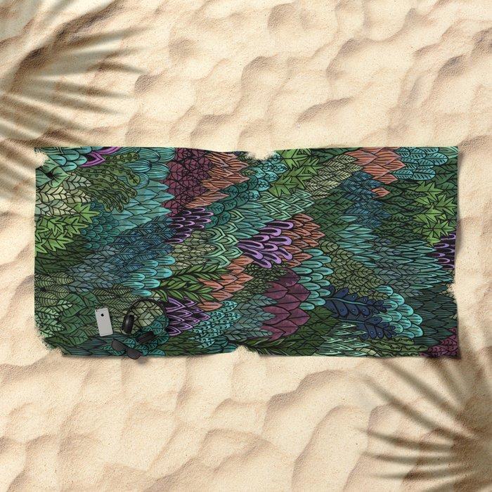 July Leaves Beach Towel