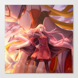 Zero Two (Darling in the FranXX) Canvas Print