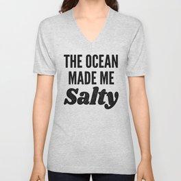 The Ocean Made Me Salty Unisex V-Neck
