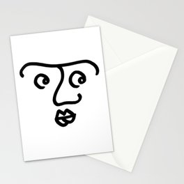 Wondering Face Stationery Cards