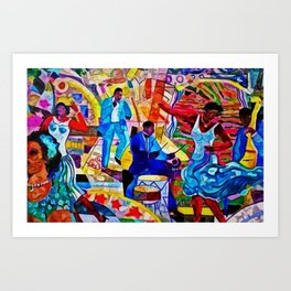 African-American 'The Spirit of Harlem' Historical Mural Portrait Art Print