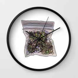 Pack of weed Wall Clock