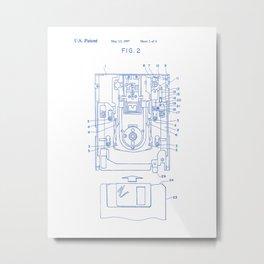 Floppy Disk Vintage Patent Hand Drawing Metal Print