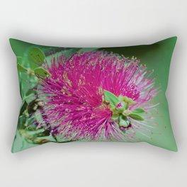 Neon Pink & Green Floral Rectangular Pillow