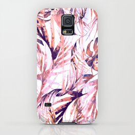 Coral Tropical Palms iPhone Case