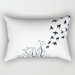 Tree with roots Rectangular Pillow