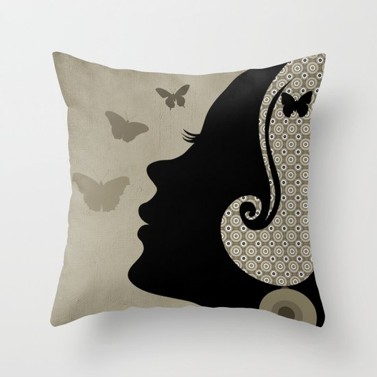 madame butterfly (II) Throw Pillow