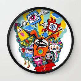 Polypop The Box Wall Clock