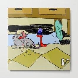 Frightening Critters Rat Metal Print