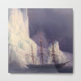 Icebergs Landscape Masterpiece by Ivan Aivazovsky Metal Print