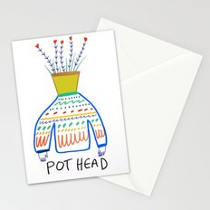 Pot head. Stationery Cards