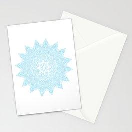 Moonlight Blue Mandala Bohemian Decor Medallion Stationery Cards