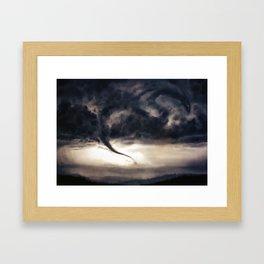 Tornado Dragon Framed Art Print