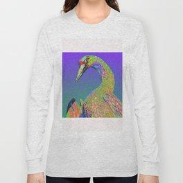 Windowpane Crane Long Sleeve T-shirt