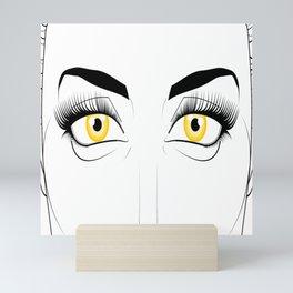 Woman with Golden Eyes Mini Art Print