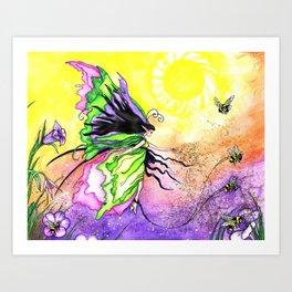 Pollination Promonade Art Print