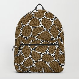 Mixed Animal Print Giraffe and Leopard Backpack