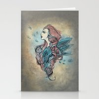 wings Stationery Cards featuring Wings by Annike