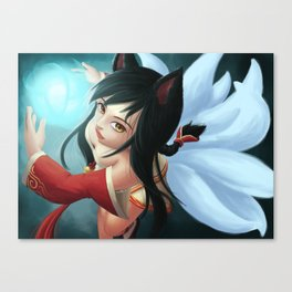 League of Legends - Spell Casting Ahri Canvas Print