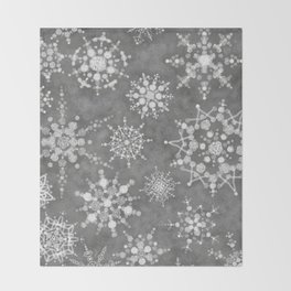 Winter Snowflakes Throw Blanket