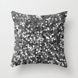 Dazzling Sparkles (Black and White) Throw Pillow
