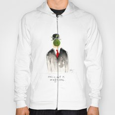 this is not a magritte Hoody