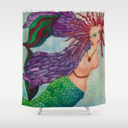 Electra Mermaid Shower Curtain