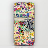 gun iPhone & iPod Skins featuring Gun by Maressa Andrioli