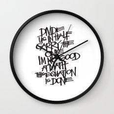 Divide Us Wall Clock