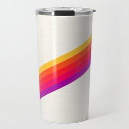 VHS Rainbow 80s Video Tape Travel Mug