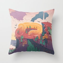 The creature of the mountain Throw Pillow