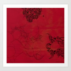Creatures in red Art Print