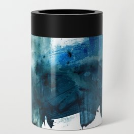 Change: A minimal abstract acrylic painting in blue and green by Alyssa Hamilton Art Can Cooler