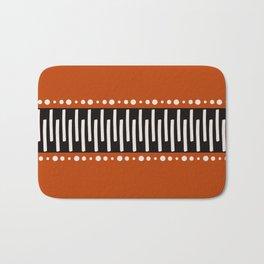 Bohemian orange, black&white tribal vibe Bath Mat