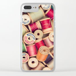vintage spools Clear iPhone Case