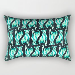 Pit Bull in Sea Foam Splash Rectangular Pillow