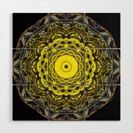 Yellow black design Wood Wall Art