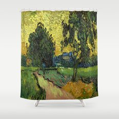 Vincent Van Gogh : Landscape at Twilight Shower Curtain