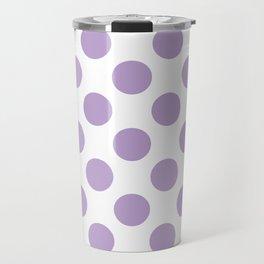 Lavender Large Polka Dots Pattern Travel Mug