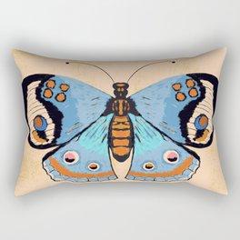Baby Blue Butterfly Rectangular Pillow