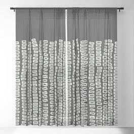 White Bricks Sheer Curtain
