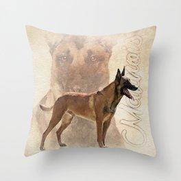 Malinois  - Belgian shepherd - Mechelaar Throw Pillow