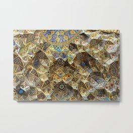Tile Mosaic Ceiling Entrance Door, Nasir-al-Molk Mosque, Shiraz Metal Print