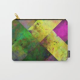 Dark Diamonds - Textured, patterned painting Carry-All Pouch