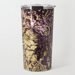 Purple leaves in melted gold Travel Mug