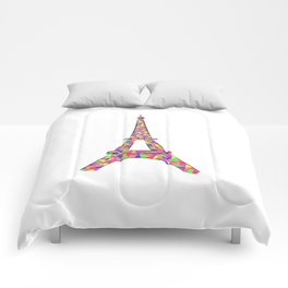 colorful eiffel tower Comforters
