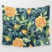 roses Wall Tapestries featuring Roses by Julia Badeeva