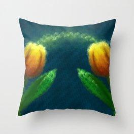 Tulipanes Throw Pillow