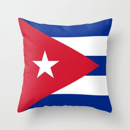 Flag of Cuba - Authentic version (High Quality Image) Throw Pillow